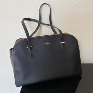 Kate spade Saffiano leather double zip tote